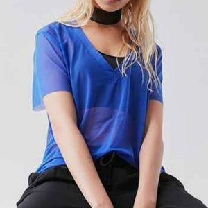 Project Social T Urban Outfitters Blue Mesh Tee